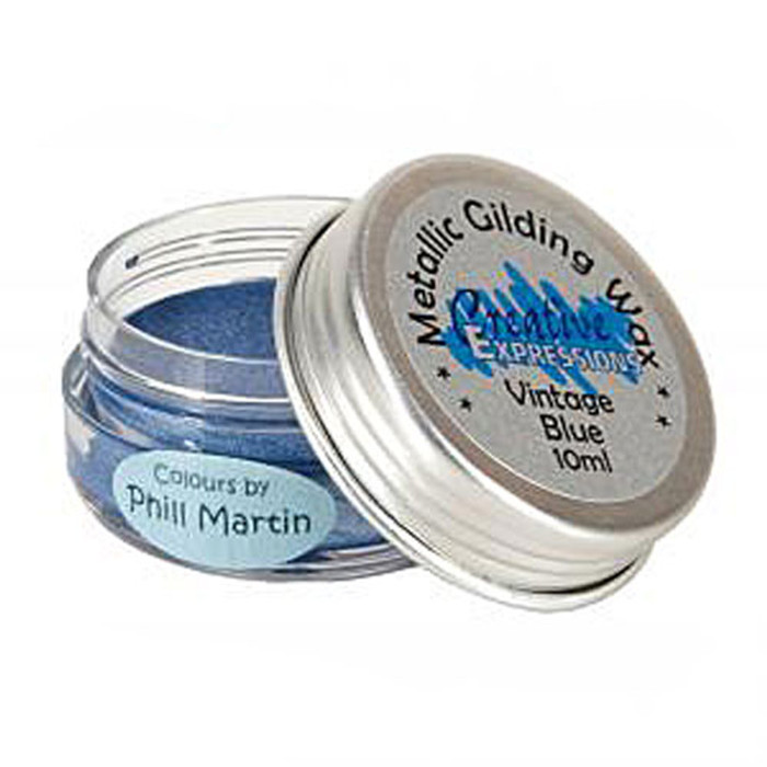 Creative Expressions Gilding Wax 10ml - VINTAGE BLUE