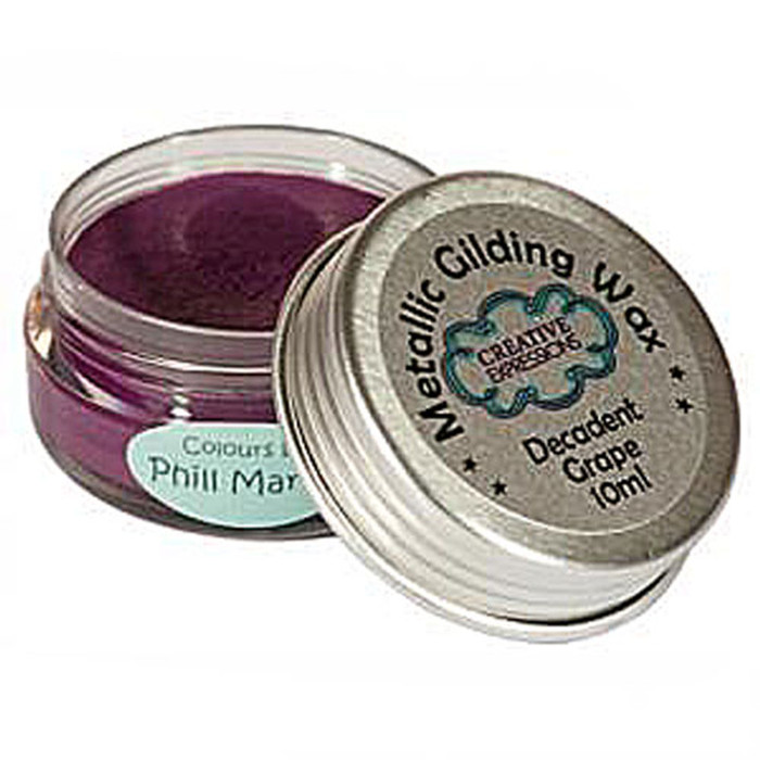Creative Expressions Gilding Wax 10ml - DECADENT GRAPE