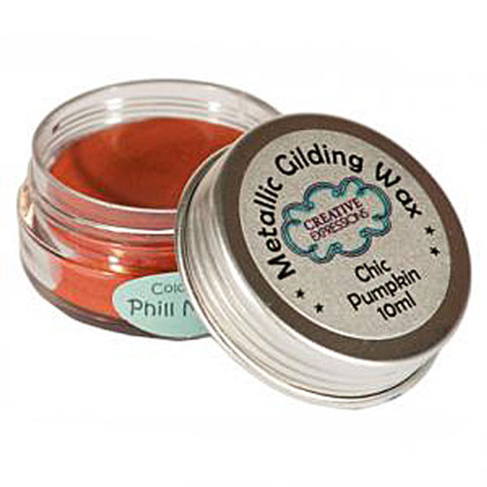 Creative Expressions Gilding Wax 10ml - CHIC PUMPKIN