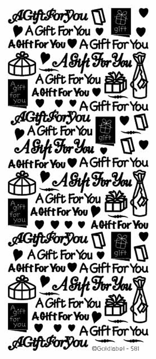 Craft Creations Peel-Off - A Gift For You GOLD  581