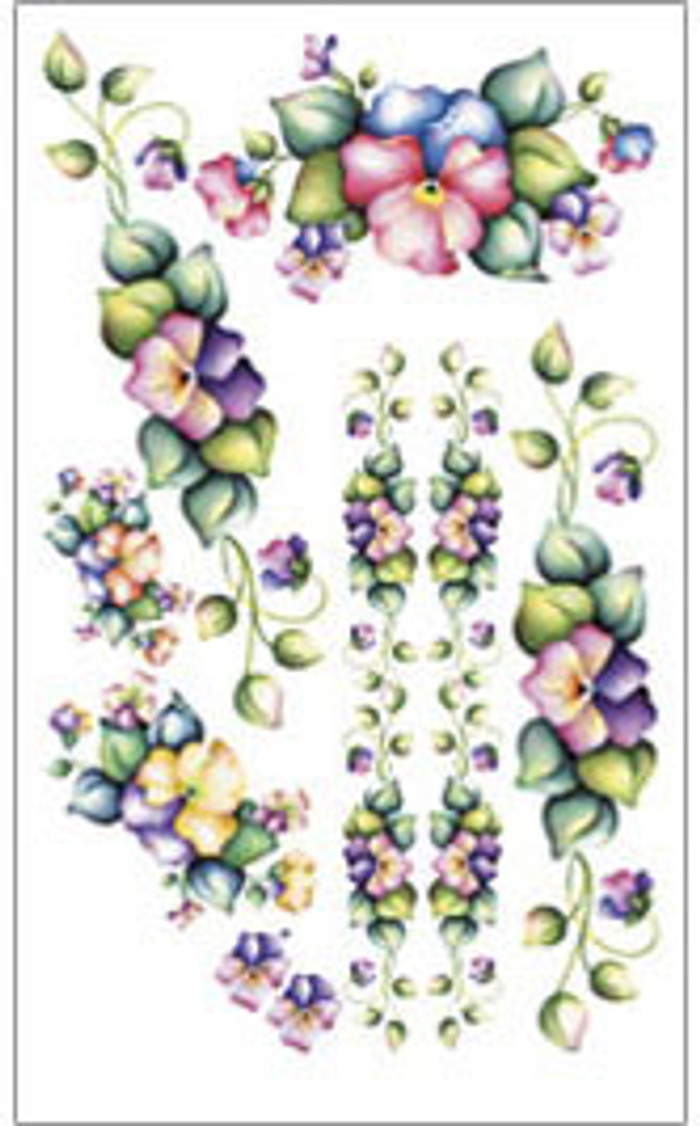 E-Z  Rub-On Transfers - Pansies  FIT233