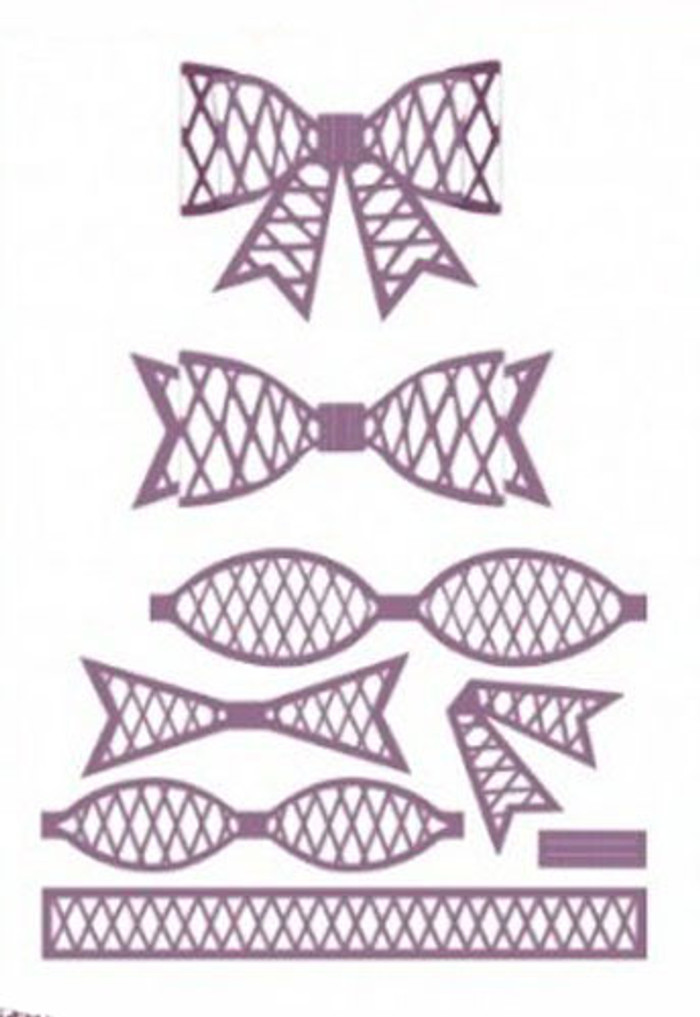 Sue Wilson - The Finishing Touches Collection - Lattice 3D Bow Dies CED1404 - Pre-Order 15% Off