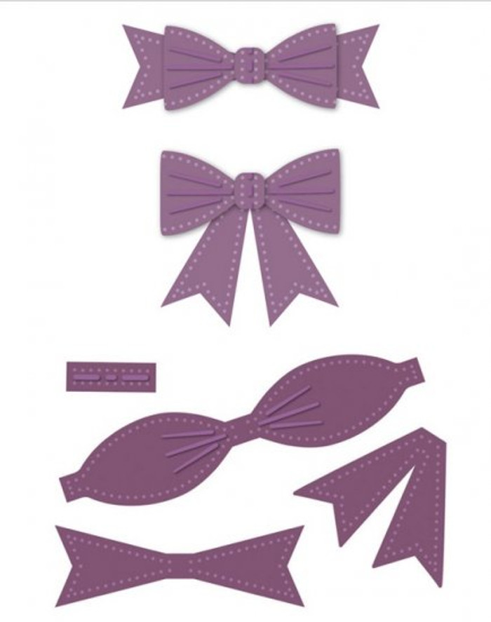 Sue Wilson - The Finishing Touches Collection - Classic 3D Itty Bitty Bow Dies CED1408 - Pre-Order 15% Off