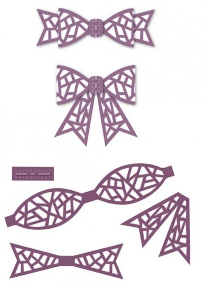 Sue Wilson - The Finishing Touches Collection - Mosaic 3D Itty Bitty Bow Dies CED14010 - Pre-Order 15% Off