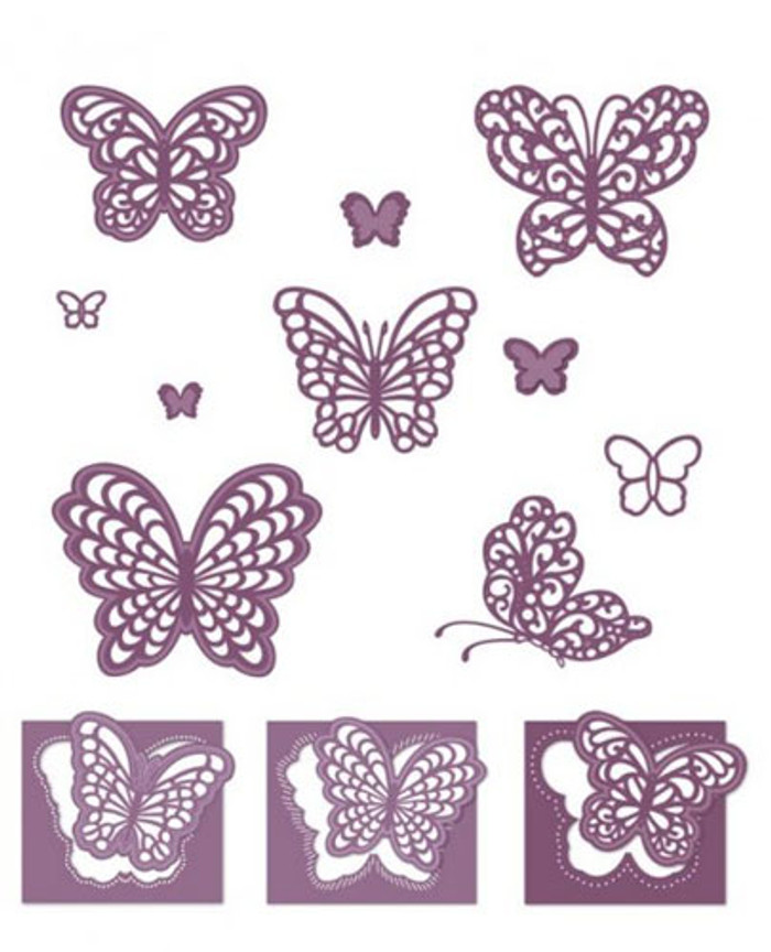 Sue Wilson - The Finishing Touches Collection - Magical Butterflies Dies CED1415 - Pre-Order 15% Off