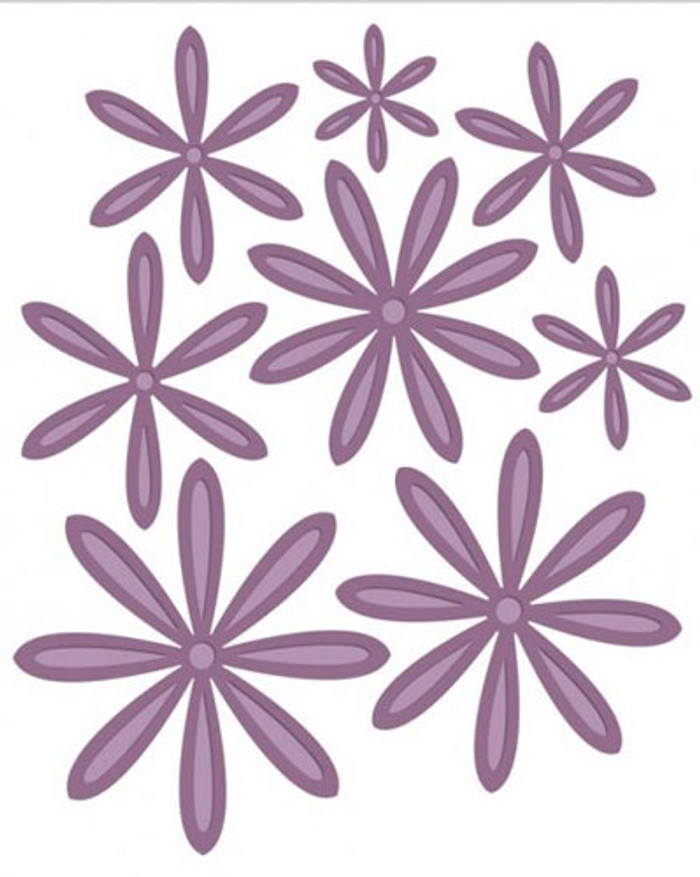 Sue Wilson - The Finishing Touches Collection - Delicate Daisies - Complete Petals Dies CED1417 - Pre-Order 15% Off