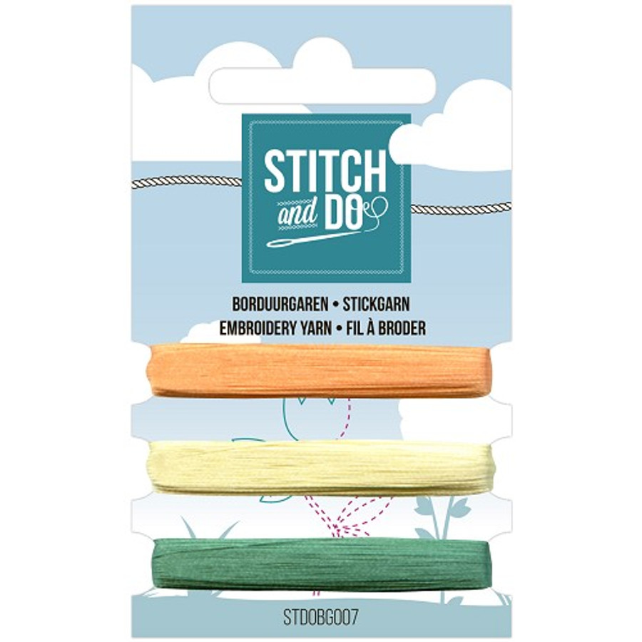 Stitch and Do Card Embroidery Thread Set 007 - 3 x 50m