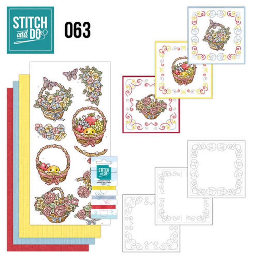 Stitch and Do 63 - Card Embroidery Kit - Get Well Soon