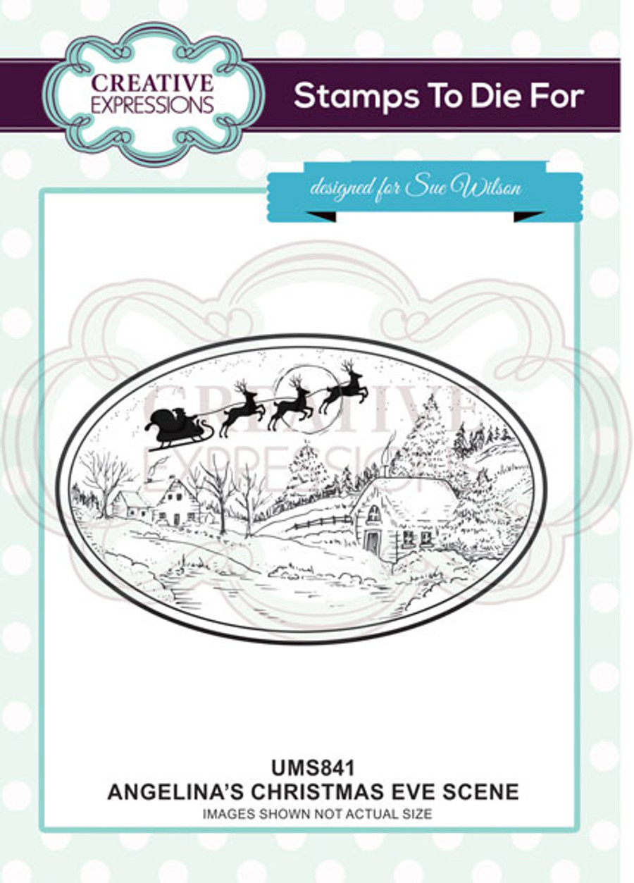 Sue Wilson Stamps To Die For - ANGELINA'S CHRISTMAS EVE SCENE