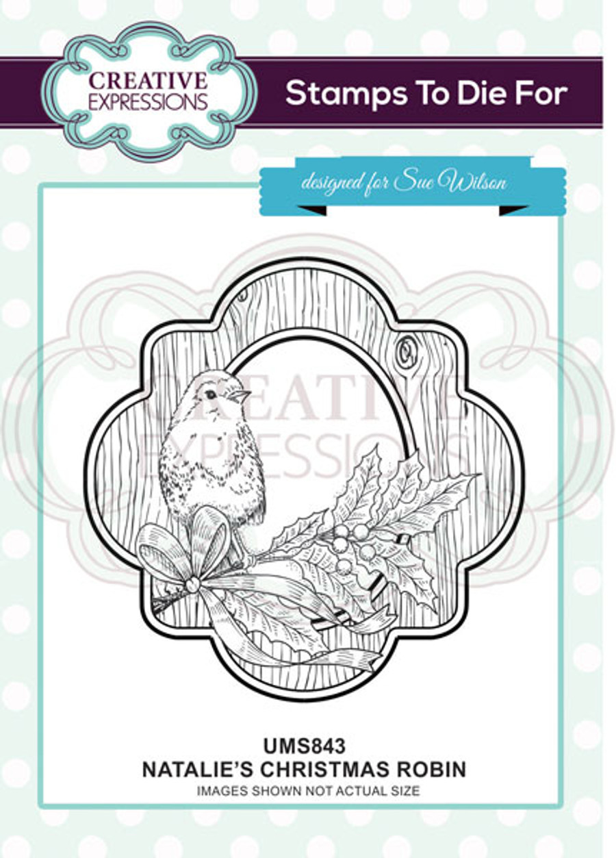 Sue Wilson Stamps To Die For - NATALIE'S CHRISTMAS ROBIN UMS843