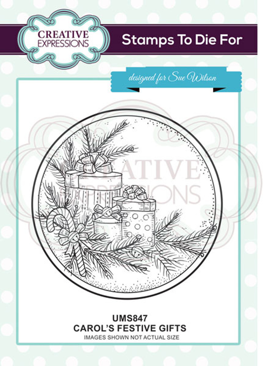 Sue Wilson Stamps To Die For - CAROL'S FESTIVE GIFTS UMS847