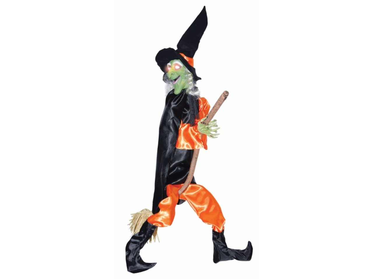 Wicked Kicking Halloween Animated Witch Prop