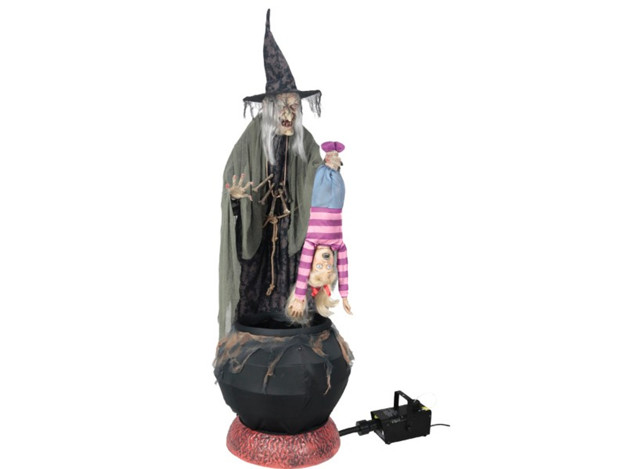 Animated Witch Prop Cauldron Child Fog Machine Included