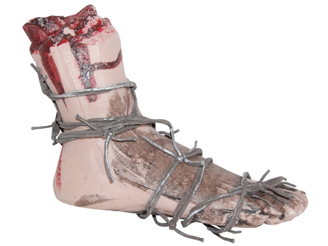 Bloody Barbed Wire Severed Foot Prop | Shockingly Realistic!