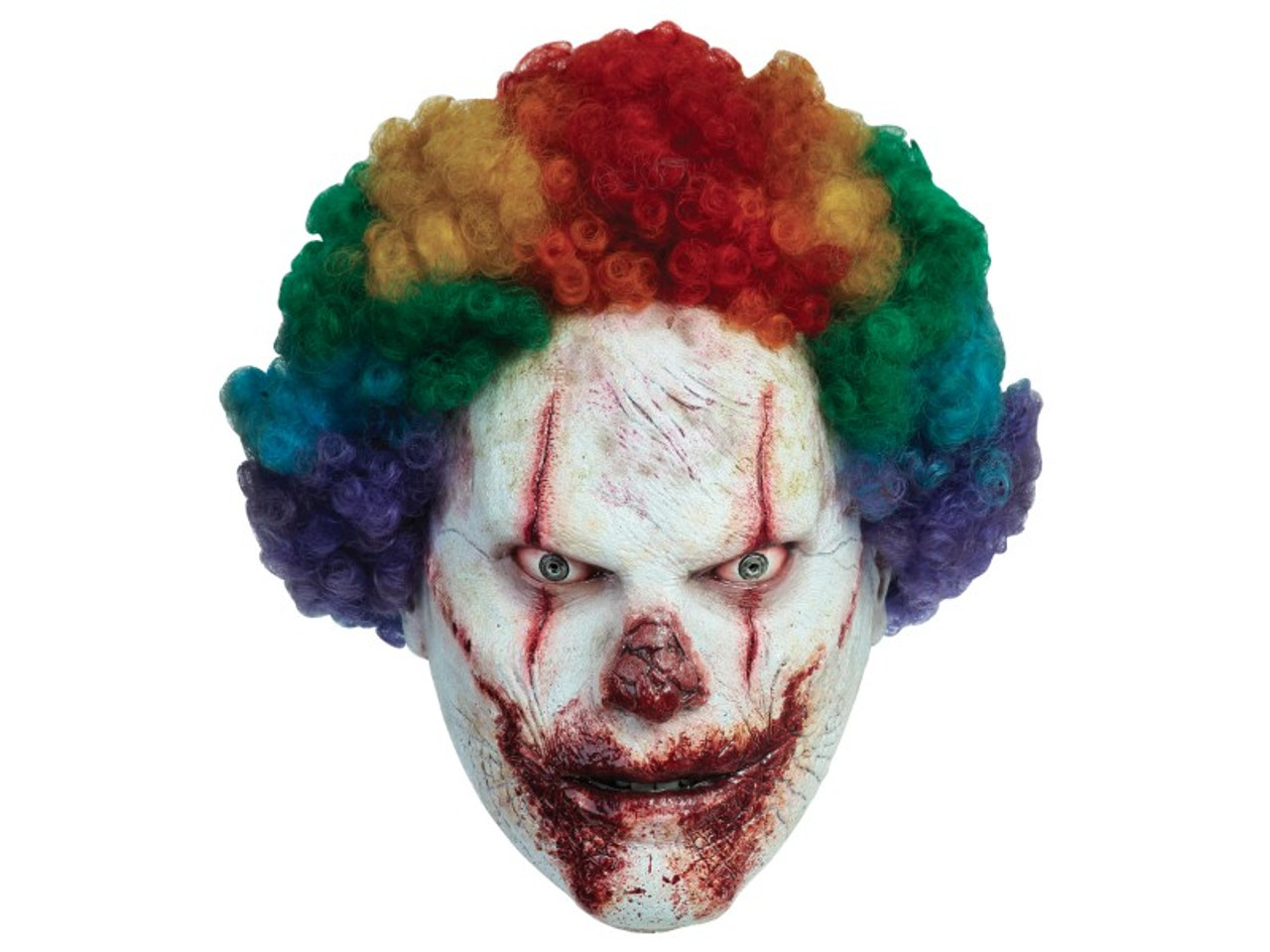 this bozo the clown mask will frighten even the bravest of souls his face looks