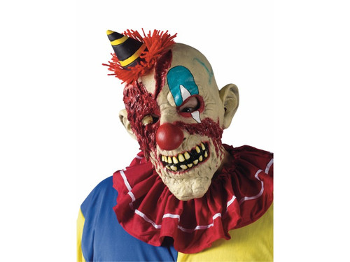Put this Evil Clown mask over your head and transform instantly to a scary character.  Three-quarter mask, comfortable to wear! Evil clown.