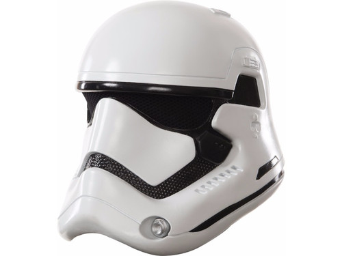 The perfect accessory for your Stormtrooper costume from the new Star Wars movie. 2 piece helmet white. One size fits most children.