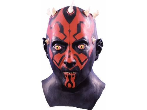 Darth Maul Latex Mask, Hand painted. Mask of the character from the Star Wars movies.