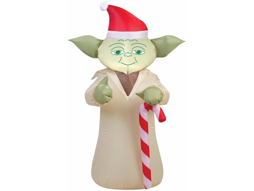 This Christmas the force may be with you, thanks to this great Yoda inflatable! Amazing it will be when your neighbors and their children see it! The candy cane may not be a lightsaber but it will still enthrall everyone who sees it. Great for outside use under gentle elements thanks to weather-proof fabric, has everything needed to mount item in yard, works on electricity so no batteries are needed and measures 42 inches by 20 inches by 27 inches.
