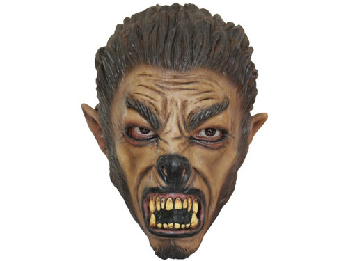 Smaller child size werewolf mask. Over-the-head, child latex mask. Individually hand painted for the most realistic look possible!