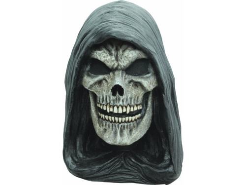 The Grim Reaper Latex Mask ushers souls of the recently deceased to the afterlife. Full over-the-head latex mask has a creepy smile of fatal destination. Don't forget your scythe to sever the connection between life and death.