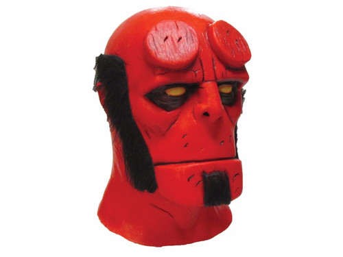 Hellboy is now, for the first time ever, here to give you your chance to be him with this full latex mask.  Based on the Best Selling Dark Horse comic book by Mike Mignola. Hellboy is a registered trademark of Dark Horse Comics and Mike Mignola. All rights reserved.