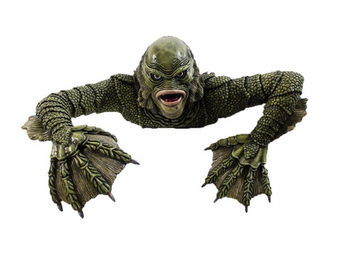 The Creature From The Black Lagoon Grave Walker!  Torso and pair of arms made of rigid foam that appear to be crawling out of the grave. Great effect! Dimensions when assembled are 16 1/4 inches high, 36 inches long, 25 inches wide. Great look!