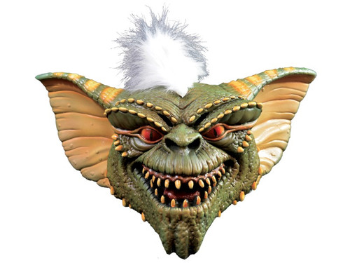 From the classic movie Gremlins comes this excellently detailed mask of the character of Stripe, 100% latex. Individually hand pianted for the best possible look. Full, over-the-head mask. hair attached. One size fits most adults.