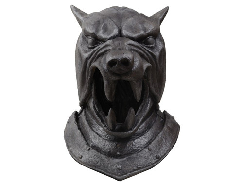 Trick or Treat Studios and HBO are proud to present the officially licensed Game of Thrones Helmet of The Hound Mask. Based on hundreds of on screen and behind the scenes images and personally approved by the Producers at HBO, this mask is the ultimate replica of the The Hound Helmet worn by Sandor Clegane. So get yourself our Game of Thrones The Hound Helmet Mask mask and protect House Lannister this Halloween.