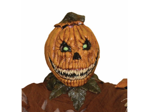 Get your new 2017 horror on with the Pumpkin Rot Latex Mask. The lid of this latex Jack-O-Lantern comes off to reveal it's slimy pumpkin brains! Velcro tabs keeps it in place until you decide to remove it for a good scare.