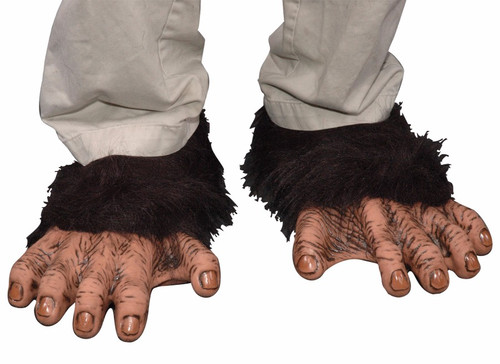 Plush ankle high shoe covers with latex upper foot and toe detailing attached. Elastic band  sc 1 st  House Of Hauntz & Chimp Hand Gloves | Monkey Around With This Real Look!