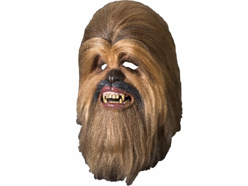 Become of hairy beast from Star Wars with your Chewbacca Mask! Latex overhead mask completely covered with hand-layered multicolored long hair fur for an authentic movie look. You can add additional foam inside for a custom fit. The eye holes may be trimmed with an exact knife for precise personal vision.