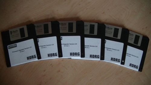 Korg Karma Firmware Upgrade Version 2.0 (6 disk set)