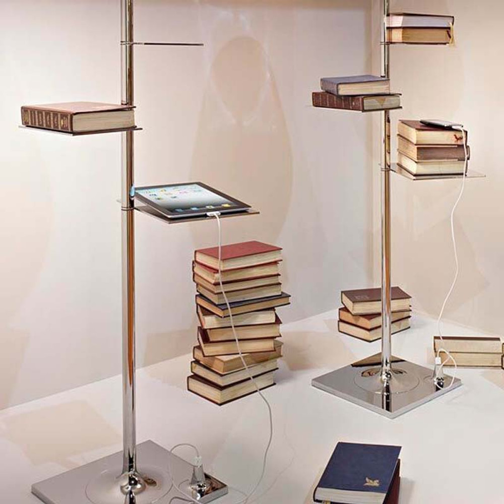 Bibliotheque Nationale Modern Floor Lamp With Shelves