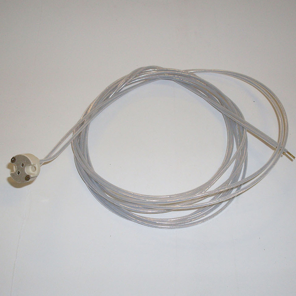 GY 6,35/GX5,3 lamp fitting with 2mt wire 0,75 MMQ