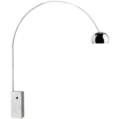 Arco Floor Lamp 1960\'s Series by Achille Castiglioni | FLOS™ USA