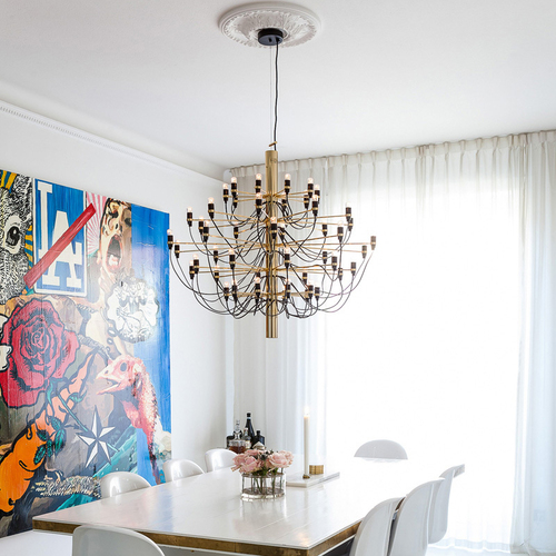 2097 Chrome Dining by Gino Sarfatt - Dining Room Lighting