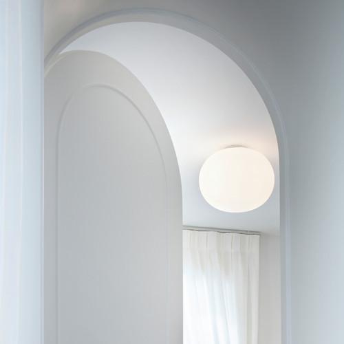 Glo ball c modern sphere flush ceiling ceiling light flos usa glo ball c ceiling ball lights mozeypictures Images