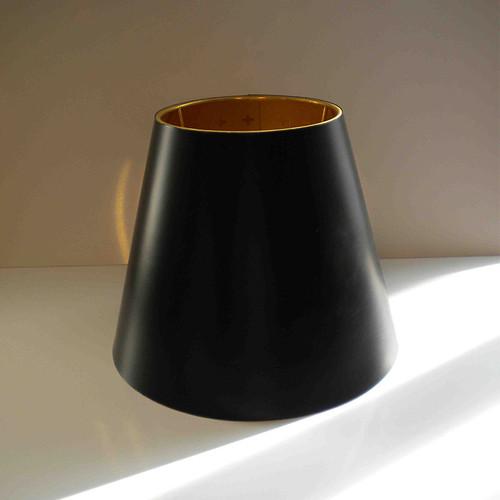 Bedside Gun black diffuser interior gold
