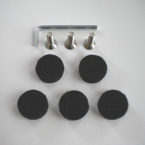 Screws with Allen Key and Feet Pads