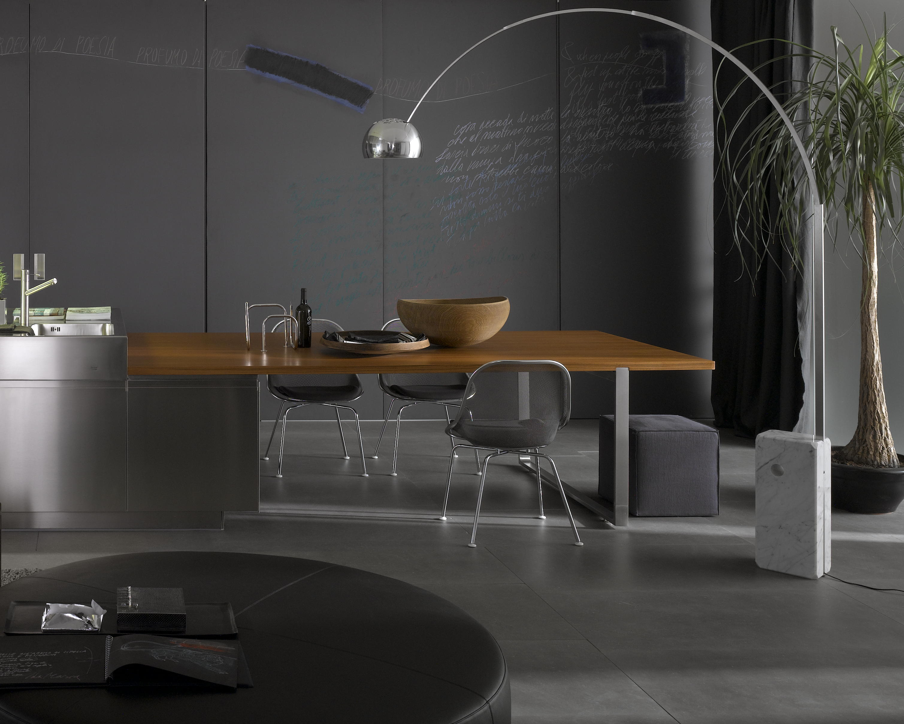 Arco Modern Floor Lamp Dining Room