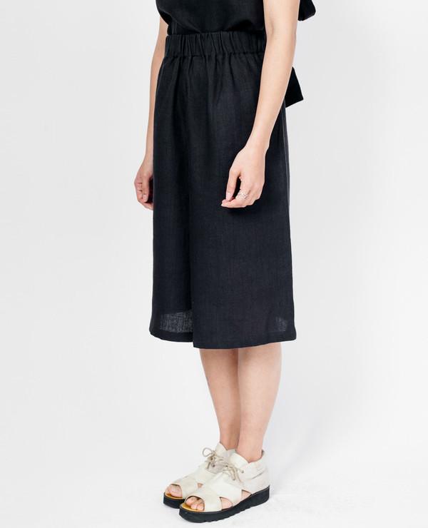 Loew Culottes - Black Linen