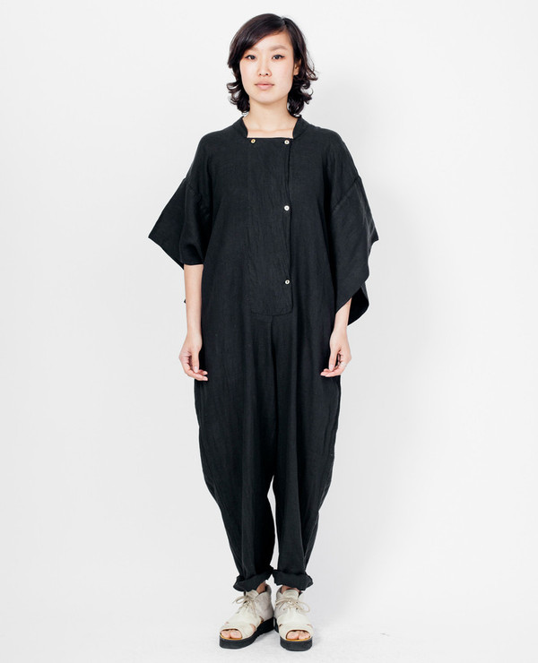 Black Crane Jumpsuit - Black