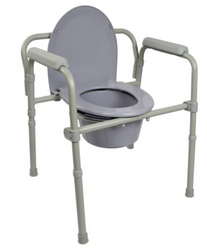 McKesson Fixed Arm Commode Chair