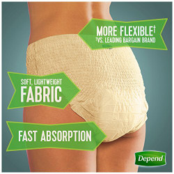Depend Fit-Flex Underwear for Women, Maximum Absorbency