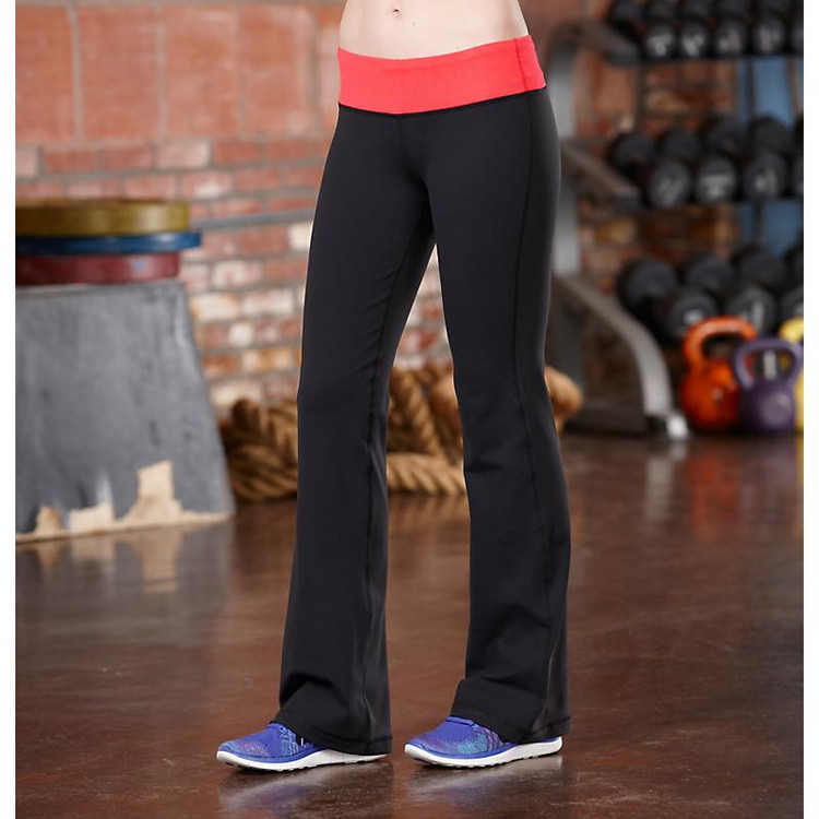 Women's R-Gear Run, Walk, Play Pant|color-Black/Poppy Pink
