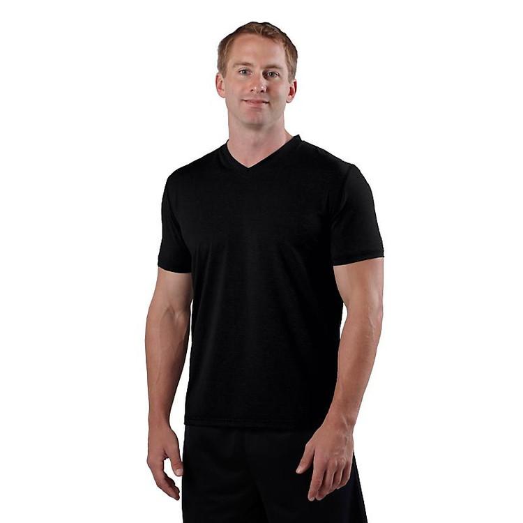 Men's R-Gear All Day V-Neck|color-Black