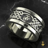 """United States Marine Corps Celtic Wedding Band available in Sterling Silver, 10k, 14k and 18k White or Yellow gold. """"Made by Marines for Marines""""  100% Satisfaction Guaranteed"""