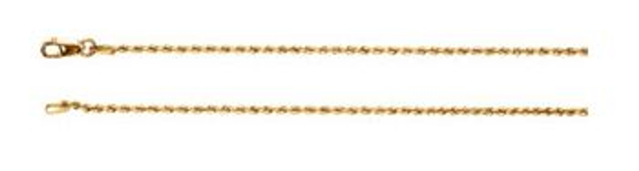 14K Yellow Gold 1.5mm Rope Chain 20""