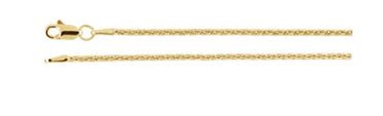 "14K Yellow Gold 1.5mm Wheat 18"" Chain"